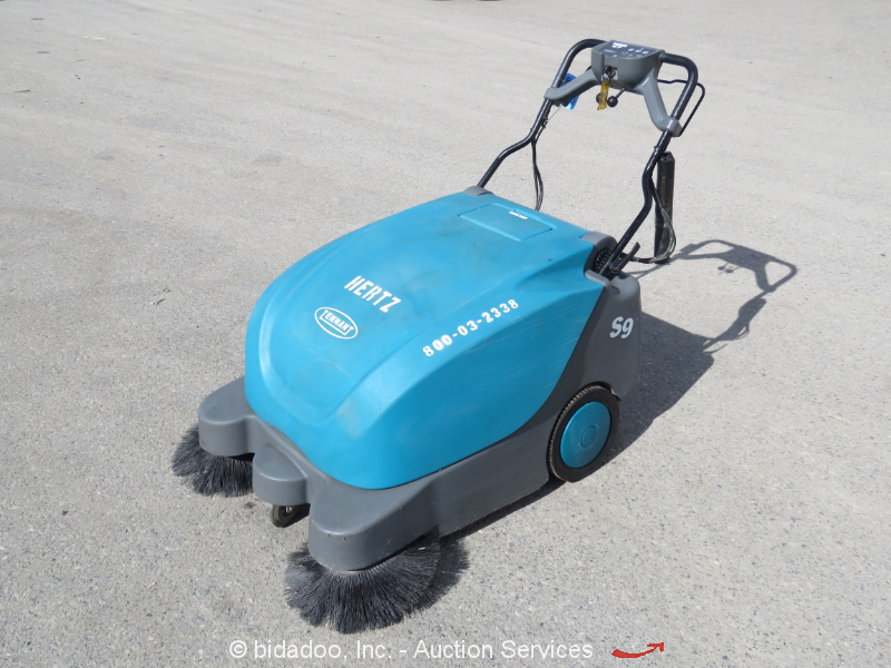 """2014 Tennant S9 Walk-Behind Electric Warehouse Sweeper 35"""" Debris Collector 12V"""