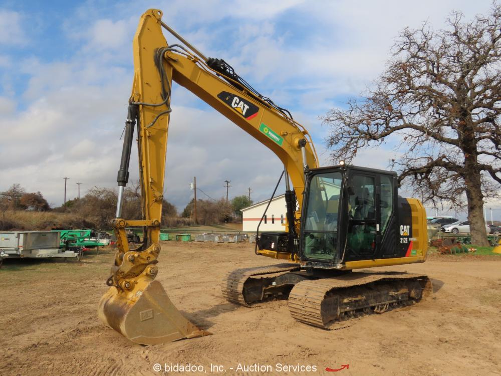 2013 Caterpillar 312E Hydraulic Excavator A/C Cab Aux Hyd 36'' Bucket bidadoo