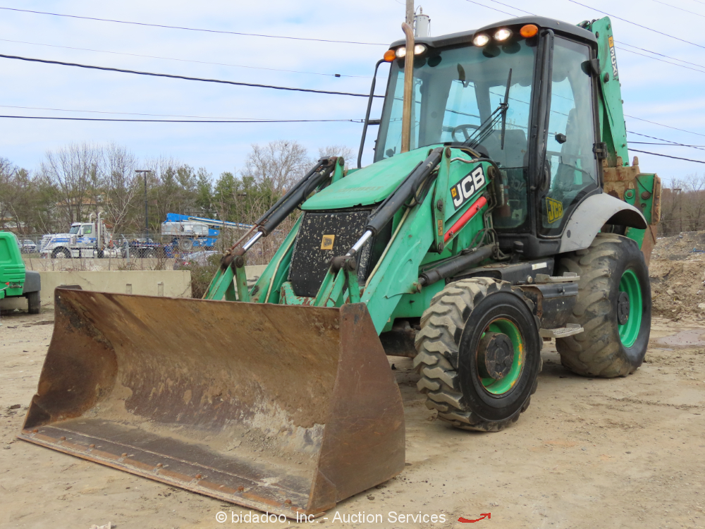 2011 JCB 3CX-14 Backhoe Wheel Loader Tractor 4X4 Aux Hyd Cab A/C E-Stick bidadoo