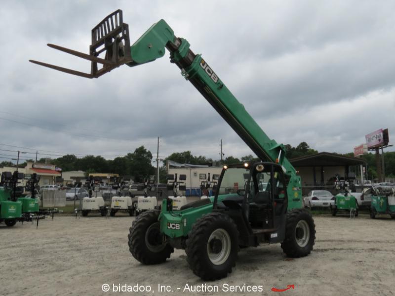 2011 JCB 507-42 42' 7,000 lbs Telescopic Reach Forklift 7K 4X4 Telehandler Aux