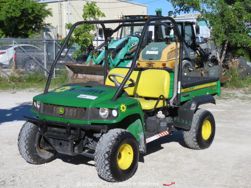 2011 John Deere 4x4 HPX 4WD Industrial Equipment Diesel Yanmar Dump Bed bidadoo