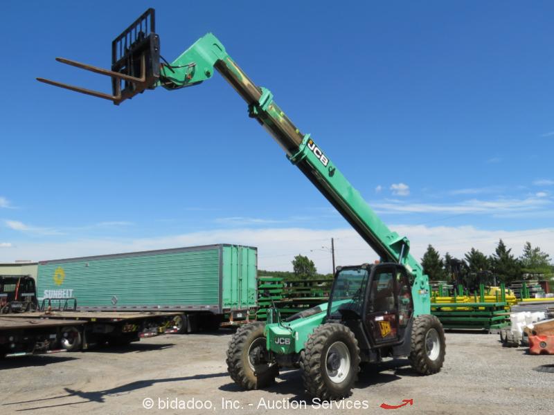 2012 JCB 507-42 42' 7,000LB Telescopic Reach Fork Lift Cab Heat Aux Telehandler