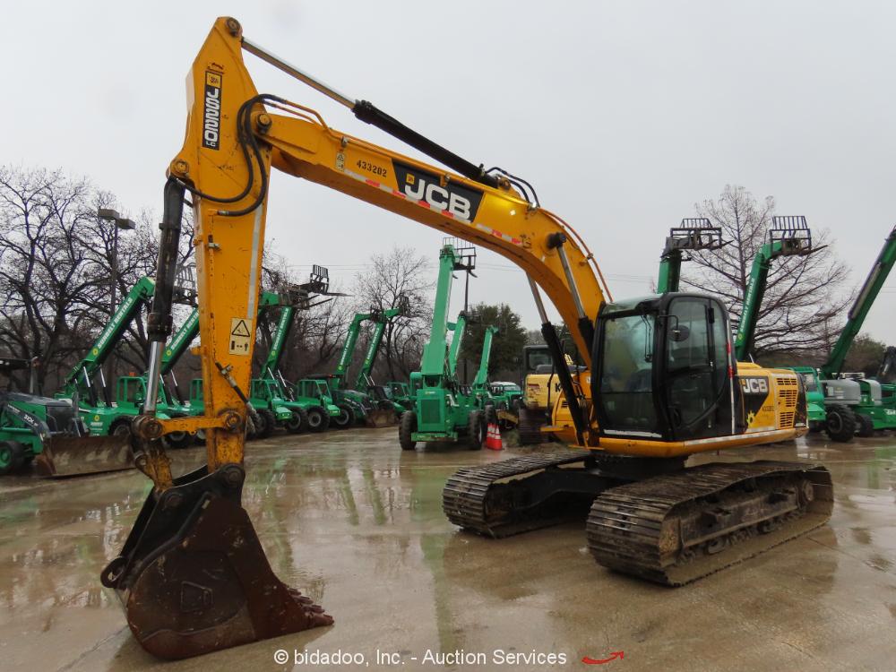 """2012 JCB JS220LC Hydraulic Excavator 42"""" Bucket Aux Hyd A/C Cab Tractor bidadoo"""