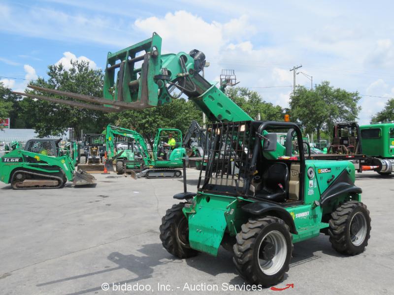 2012 JCB 520-50 4,400 lbs Telescopic Reach Forklift Telehandler Aux Hyd bidadoo