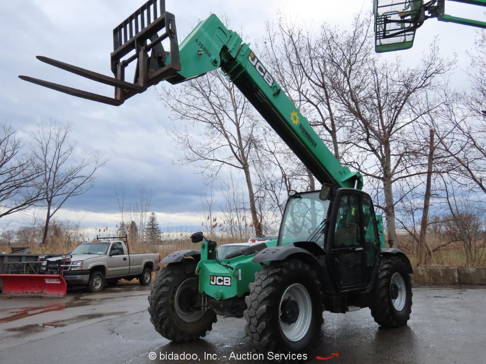 2012 JCB 50742 42' 7,000 lbs Telescopic Reach Forklift Cab Telehandler bidadoo