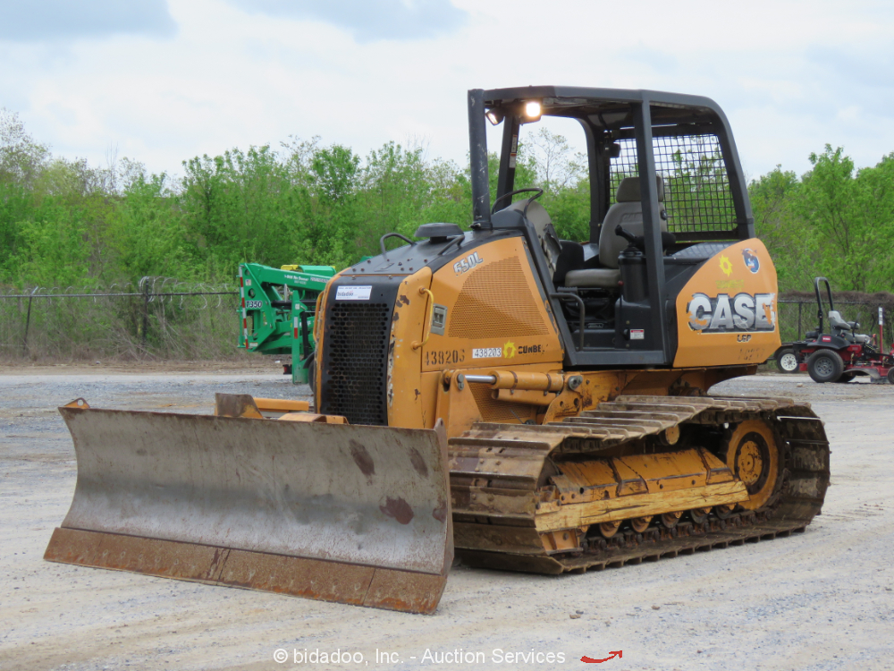 """2012 Case 650L LGP Crawler Dozer Tractor 120"""" 6-Way Blade bidadoo"""