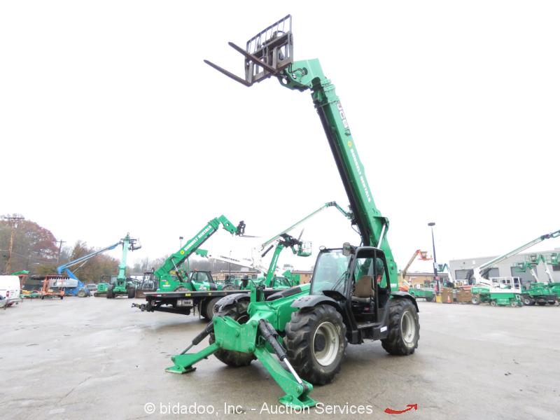 2012 JCB 510-56 56' 10,000 lb Telescopic Reach 10K 4x4 Forklift Cab Heat bidadoo