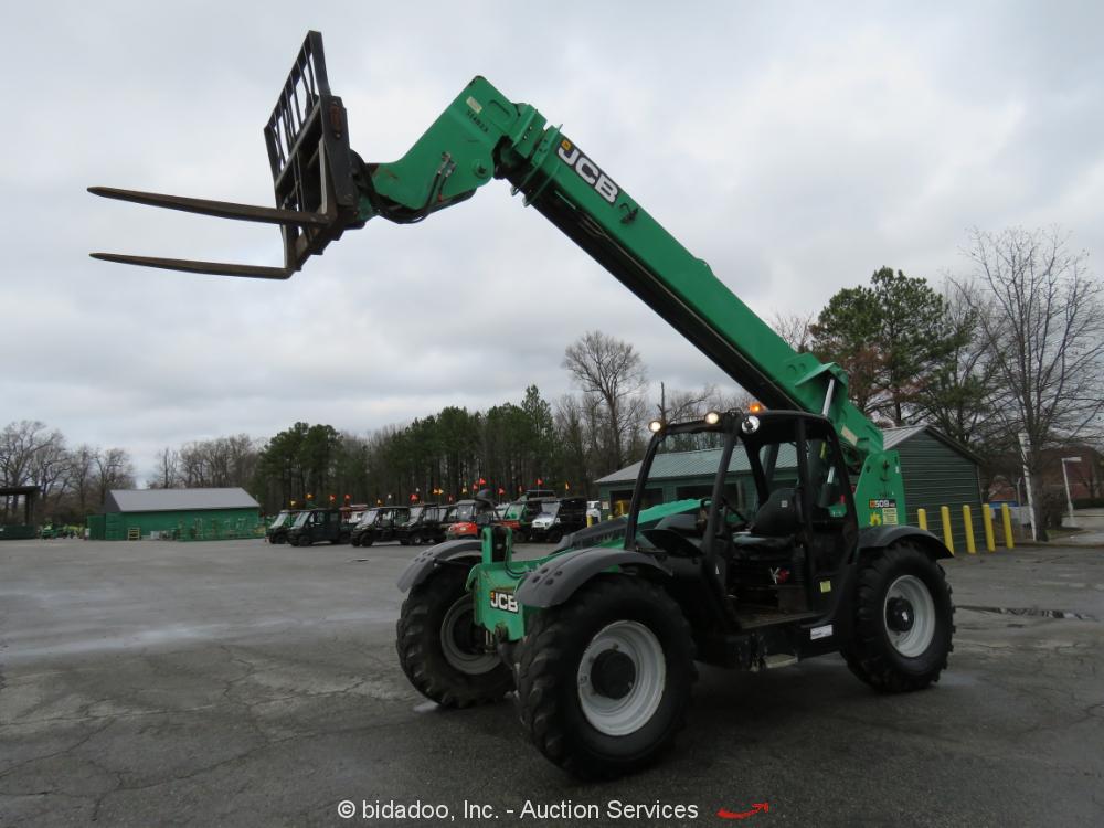 2013 JCB 509-42 42' 4WD 9K Telescopic Reach Forklift Telehandler Aux Hyd bidadoo