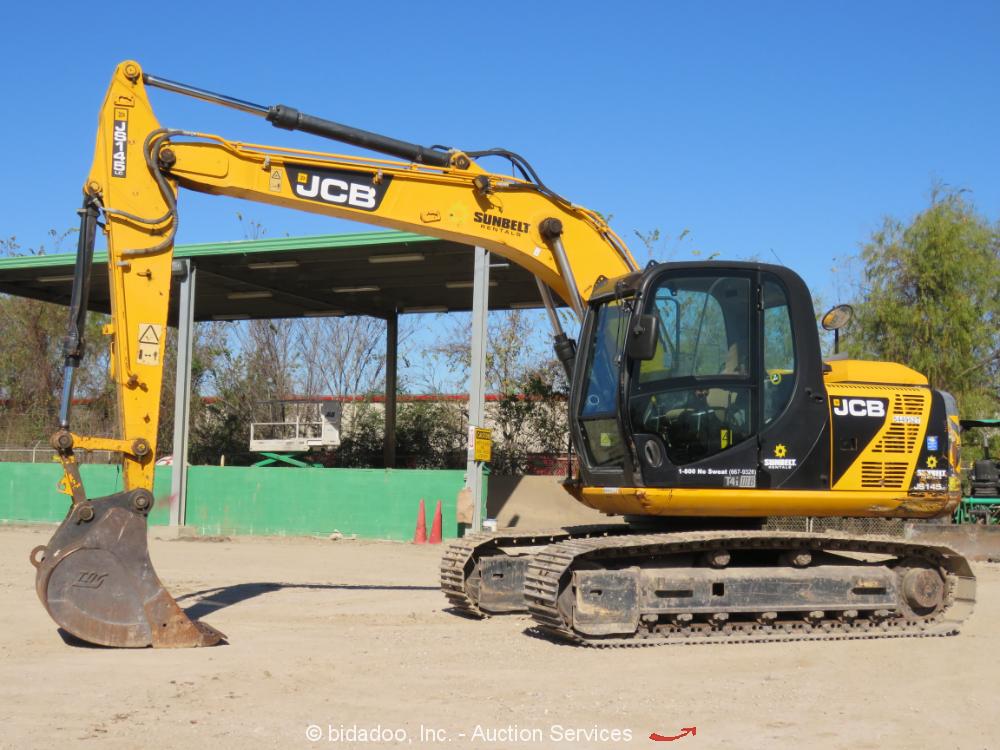 2013 JCB JS145LC Hydraulic Excavator A/C Cab Aux Hyd Tractor Trackhoe bidadoo