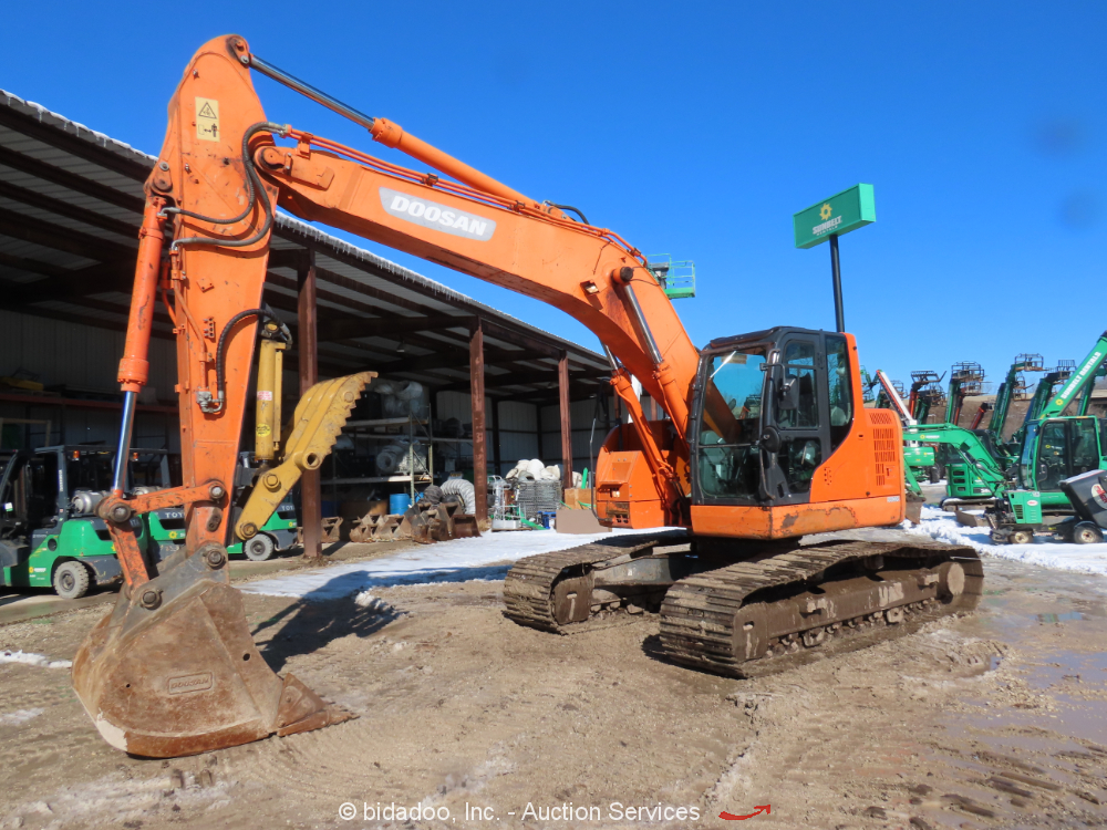 2013 Doosan DX235LCR Excavator Hydraulic Thumb Aux Hyd A/C Cab 2 Speed bidadoo