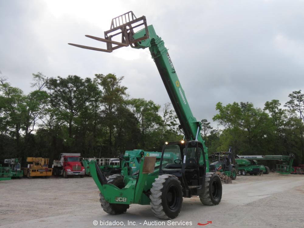 2014 JCB 512-56 56' 12,000 lbs Telescopic Reach Forklift Telehandler bidadoo