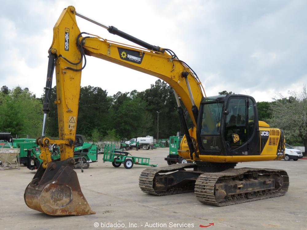 2014 JCB JS160LC Hydraulic Excavator A/C Cab Aux Hyd Trackhoe bidadoo