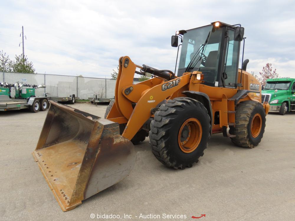"2014 Case 621F Articulated Wheel Loader AC Cab Tractor 102"" Bucket bidadoo"
