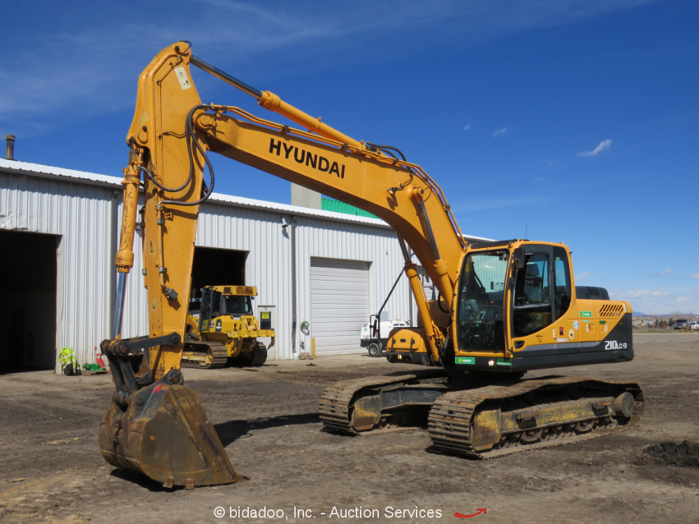 """2012 Hyundai Robex R210LC-9 Hydraulic Excavator Aux Hyd A/C Cab 42"""" Bkt bidadoo"""
