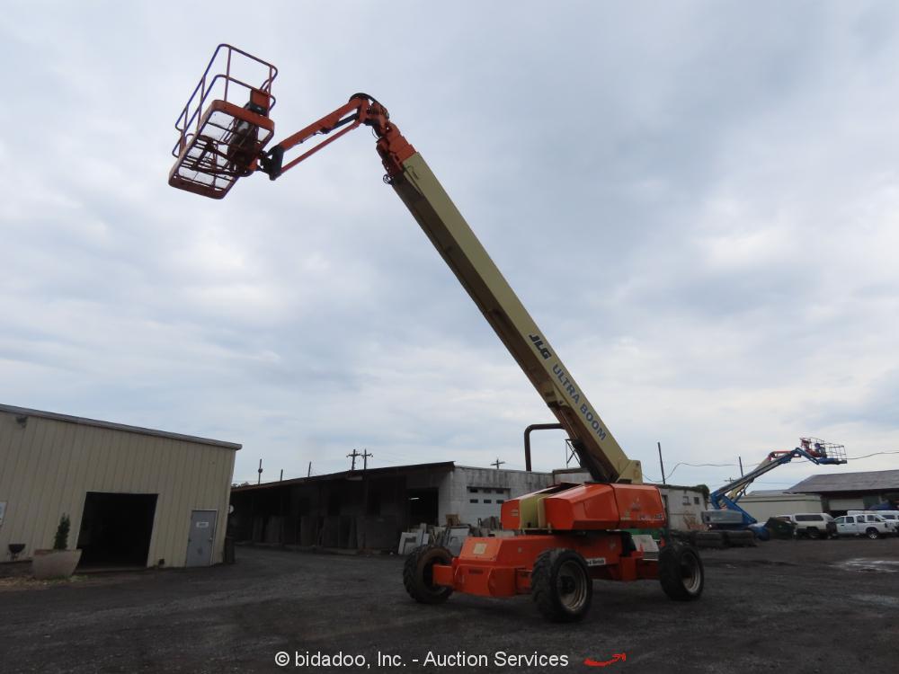 2012 JLG 1200SJP 120' 4WD Diesel Telescopic Boom Lift Jib Man Aerial bidadoo
