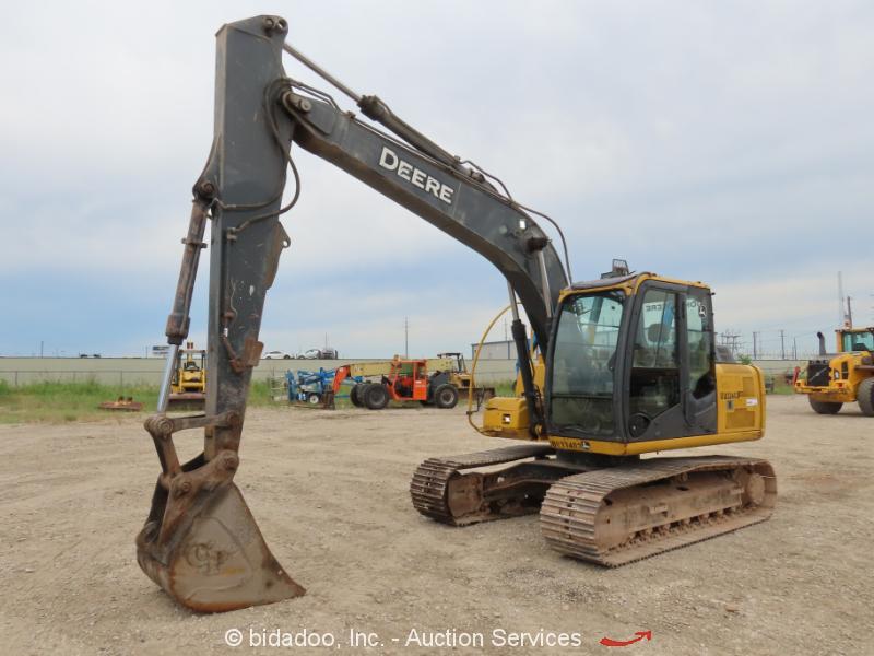 2012 John Deere 120D Hydraulic Excavator A/C Cab Aux Hyd Tractor bidadoo