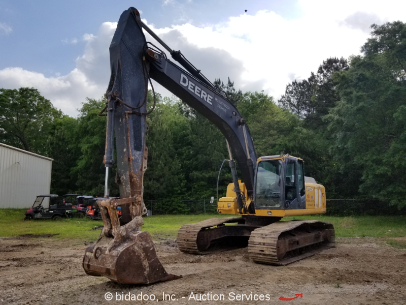 "2009 John Deere 270DLC Track Excavator A/C 50"" Tractor Bucket Aux Hydraulics"
