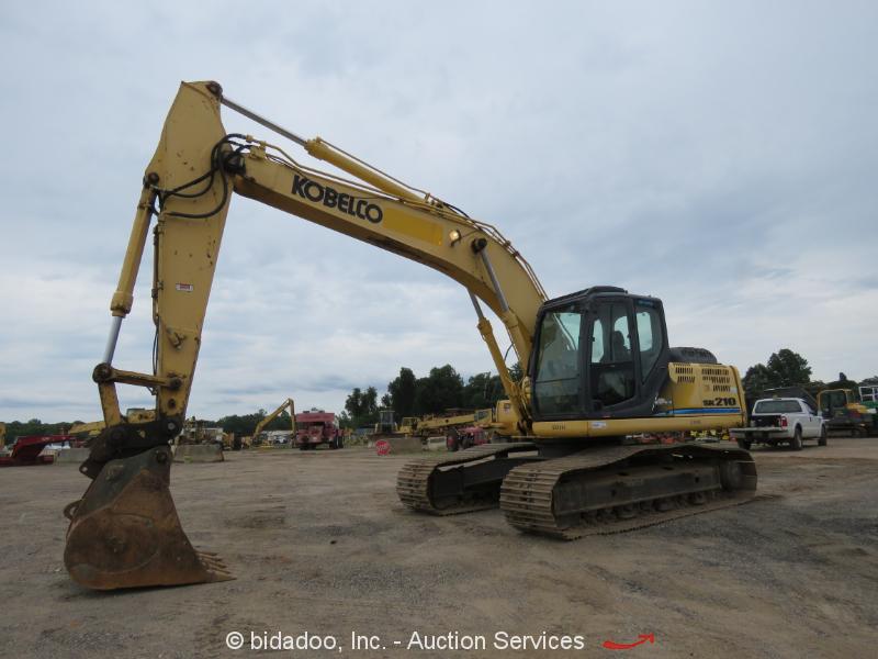 2011 Kobelco SK210LC-8E Excavator A/C Cab Tractor Aux Hydraulics Hyd Q/C bidadoo