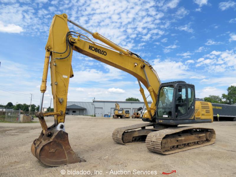"""2013 Kobelco SK210LC-9 Hydraulic Excavator 42"""" Bucket A/C Cab Aux Hyd bidadoo"""