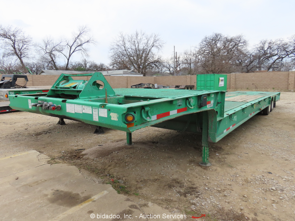 2011 Load King HFT 70RS 35 Ton T/A Hydraulic Folding Dove Tail Trailer bidadoo