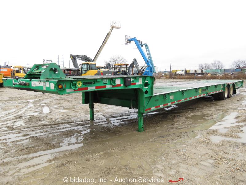 2011 Load King HFT 70RS 35 Ton T/A Hydraulic Folding Dove Tail Trailer bidadoo