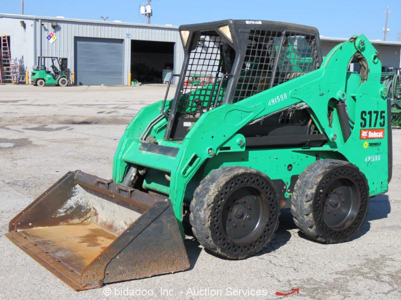 2012 Bobcat S175 Skid Steer Wheel Loader Kubota Auxiliary Hydraulics bidadoo
