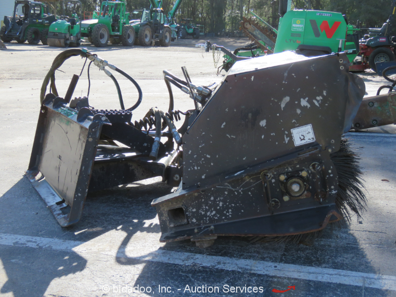 2016 Paladin 84 Quot Sweeper Broom Attachment For Skid Steer