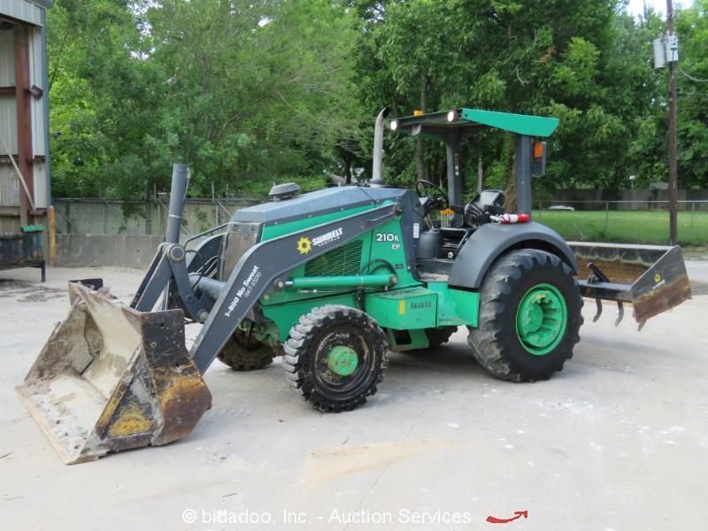 2013 John Deere 210K 4x4 Skip Loader Box Scraper Tractor Diesel MP Bucket Ripper