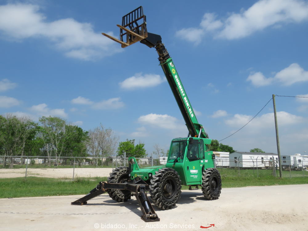 2015 Skytrak 10054 53' 10,000 lbs Telescopic Reach Forklift Cab 10K AUX bidadoo