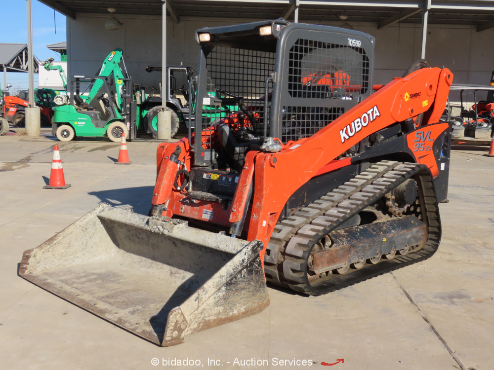 2018 Kubota SVL95-2S Tracked Skid Steer Track Loader Crawler Aux Hyd 2 Speed