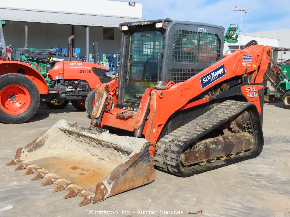 2015 Kubota SVL90-2 High Flow Skid Steer Track Loader A/C Cab Crawler bidadoo
