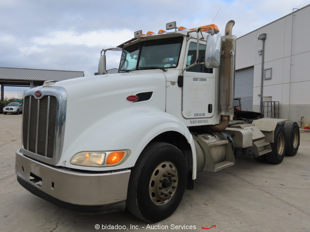 2012 Peterbilt 386 T/A Day Cab Truck Tractor 500 HP Cummins ISX15 Wet Kit A/C