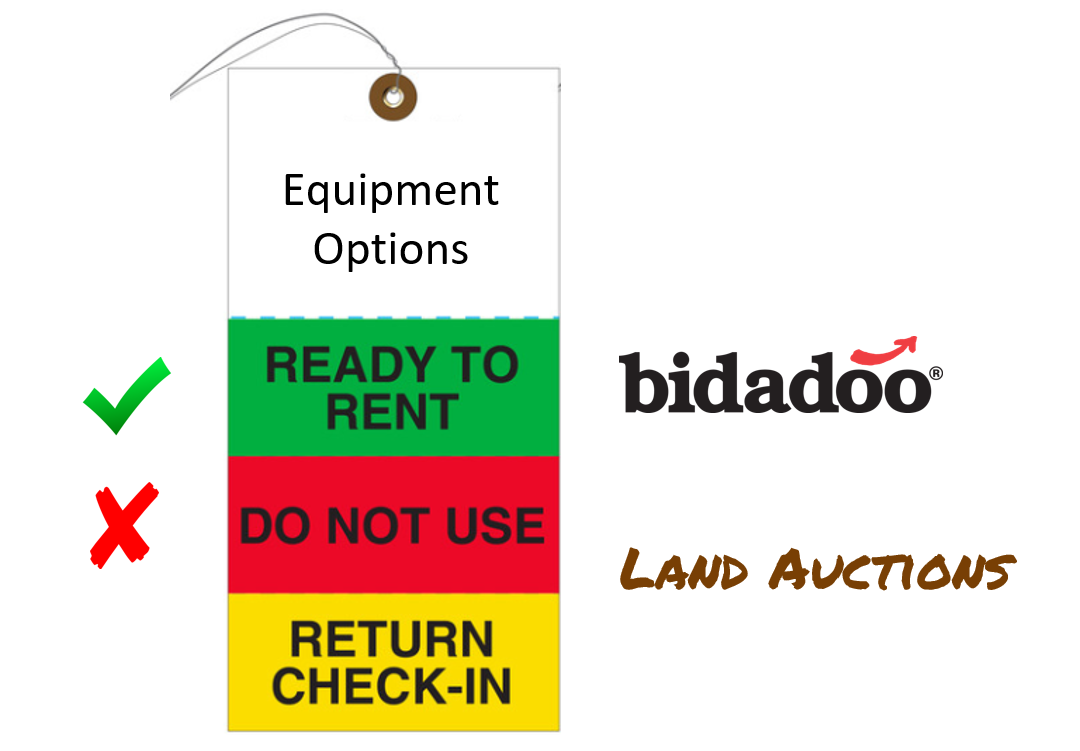 bidadoo has a great lineup of rent ready equipment